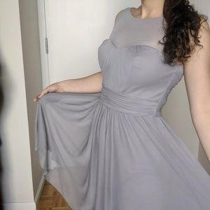 Gray / silver cocktail dress - bridesmaid's dress